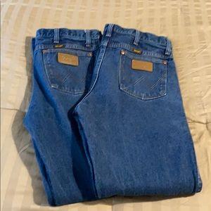100% Cotton Men's Wrangler Cowboy Cut Jeans